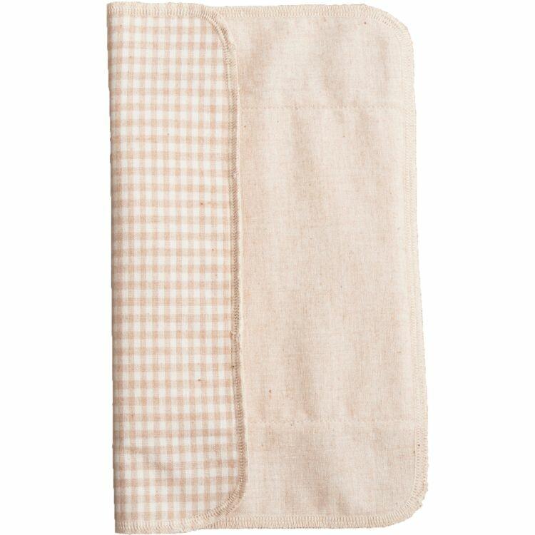 三つ折り布ナプキン【薄手/チェック茶】 30g