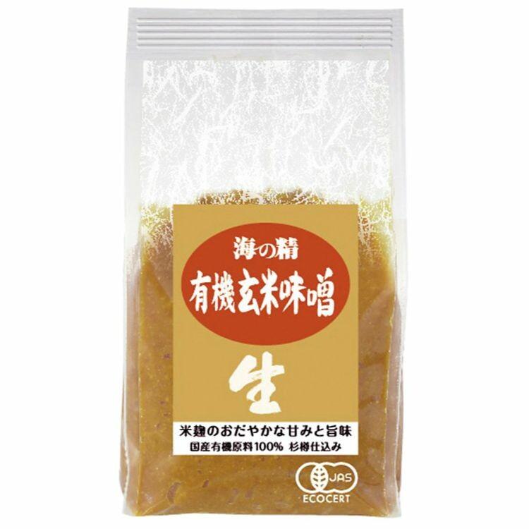 海の精 国産有機 玄米味噌 1kg