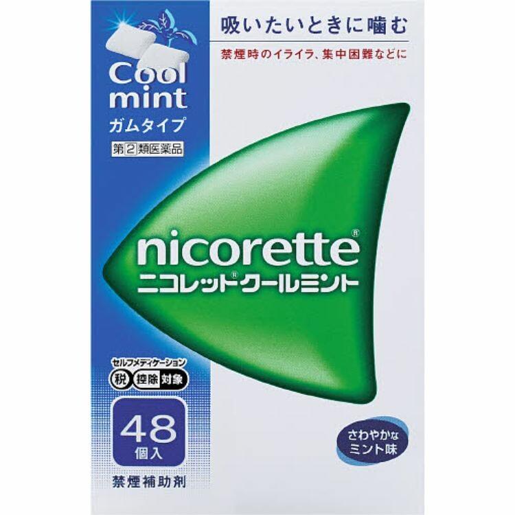 【指定第2類医薬品】ニコレットクールミント 48個