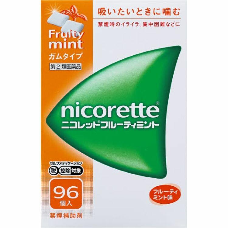 【指定第2類医薬品】ニコレットフルーティミント 96個