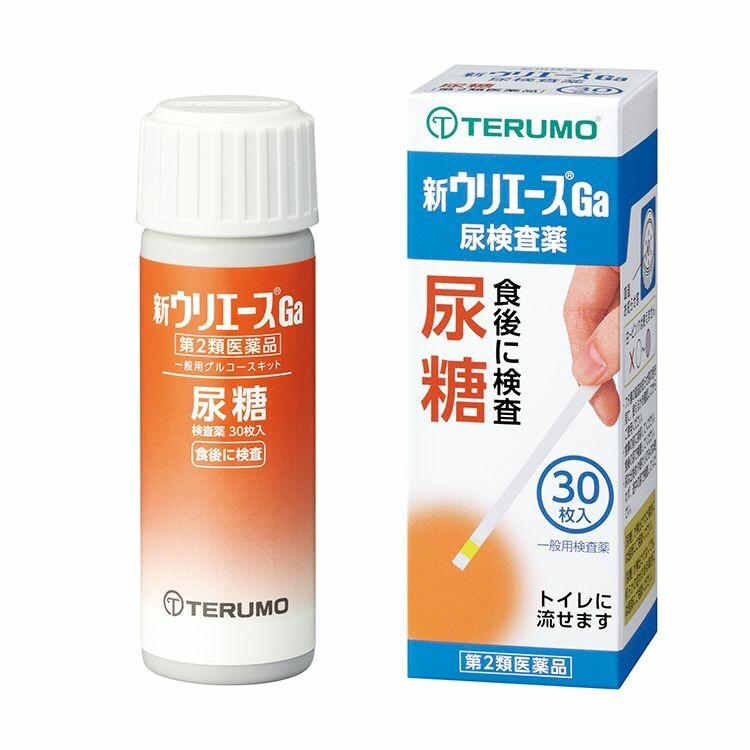 【第2類医薬品】尿糖検査薬「新ウリエースGa」 30枚入り