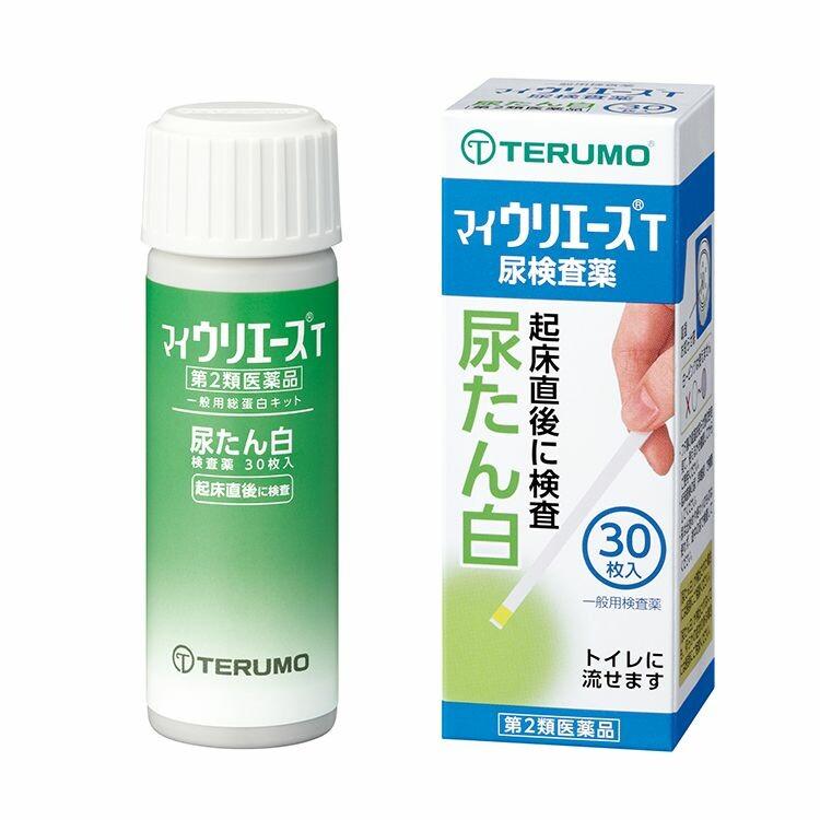 【第2類医薬品】尿たん白検査薬「マイウリエースT」 30枚入り