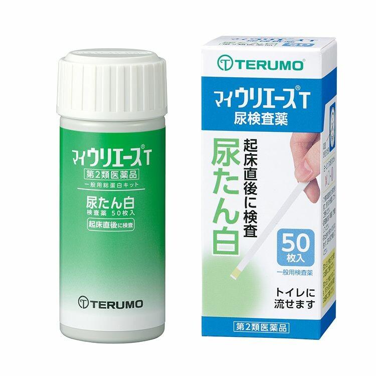 【第2類医薬品】尿たん白検査薬「マイウリエースT」 50枚入り
