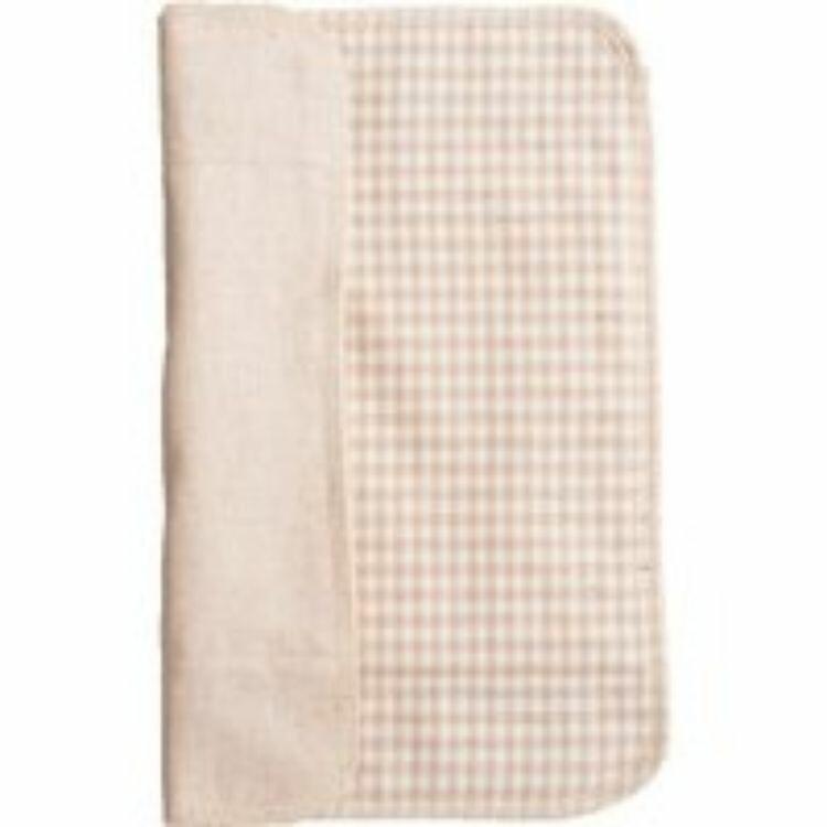 三つ折り布ナプキン【厚手/チェック茶】 40g