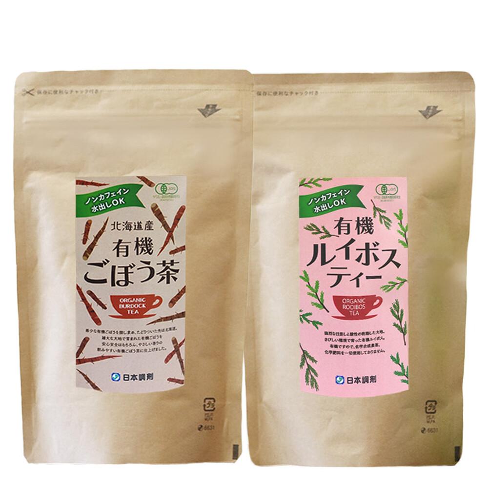 日本調剤の有機ルイボスティー40袋+有機ごぼう茶40袋セット