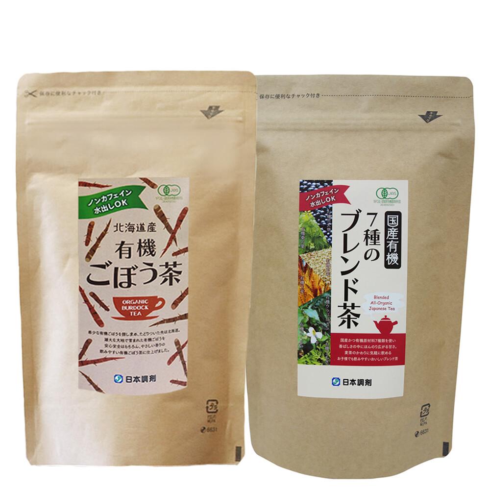 日本調剤の7種のブレンド茶40袋+ごぼう茶40袋セット
