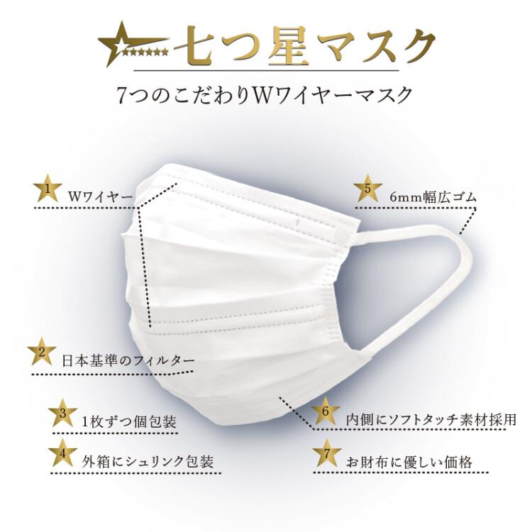 七つ星マスク 50枚(個包装)