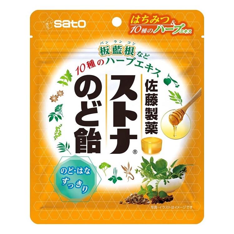 ストナのど飴(ハニーミント味) 60g