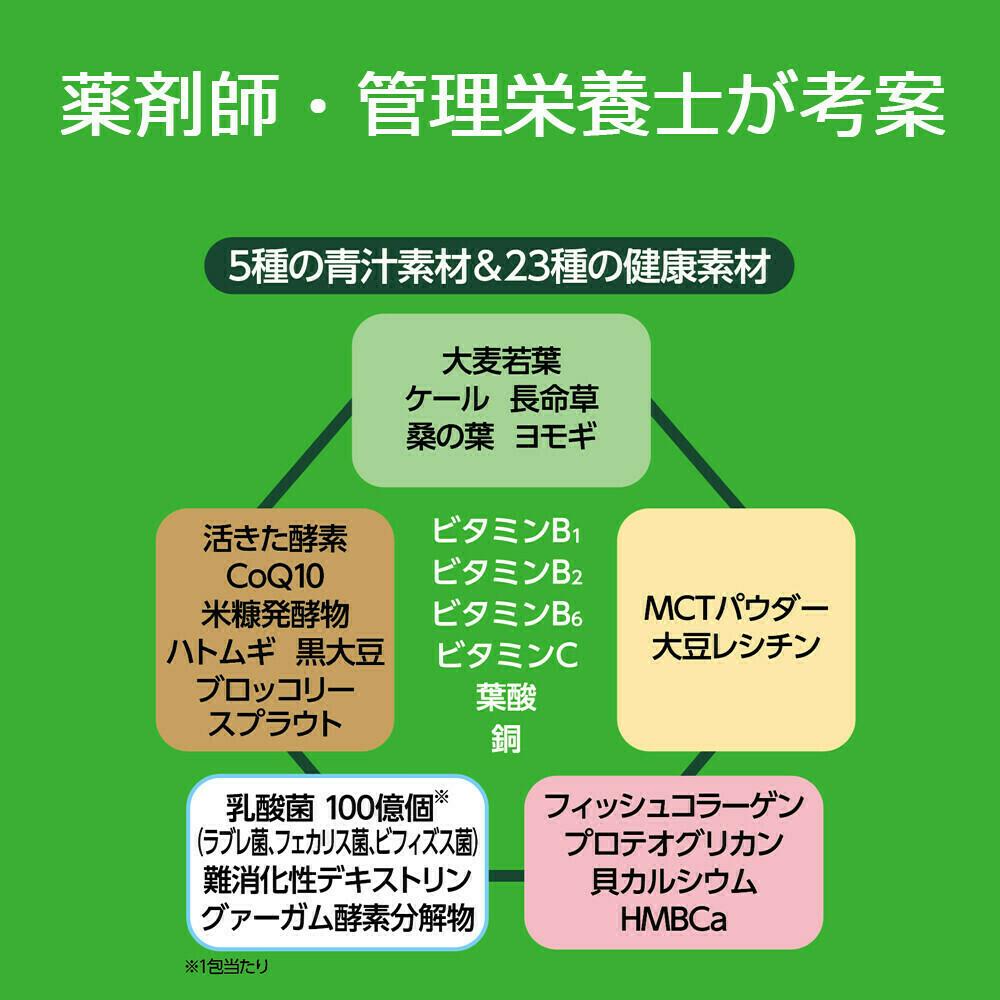 日本調剤の青汁(乳酸菌100億個配合) 30包