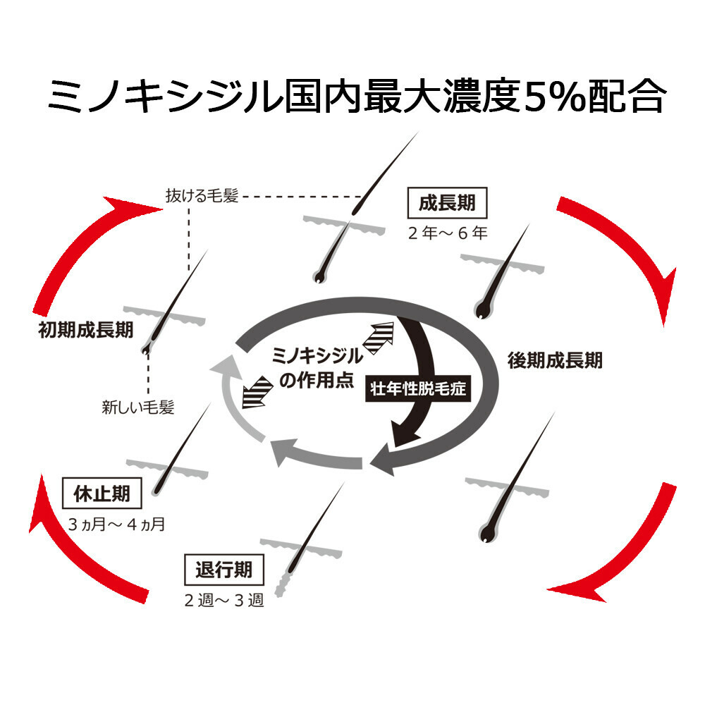 【第1類医薬品】ミノキシジルローション5%「JG」 60ml×3個セット