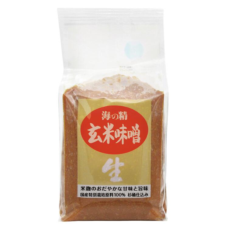 海の精 国産特栽 玄米味噌1㎏