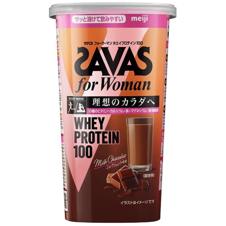 ザバスフォーウーマンホエイプロテイン100ミルクショコラ風味294g(14食分)