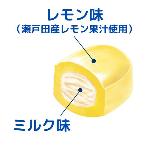 食べやすいレモンミルク味のクランチキャンディ